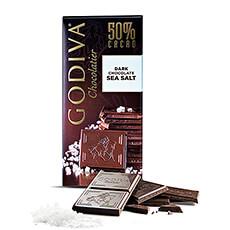 Godiva Tablette Chocolat Noir 50% Sel de Mer, 100g