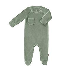 Pajamas Velvet Forest Green, 3-6 Months