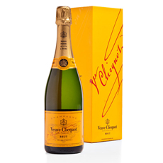 Champagne Veuve Clicquot Brut, 75 cl in a Gift box