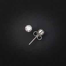 Miracles Earring Glamour With Zirkonium Stones Silver