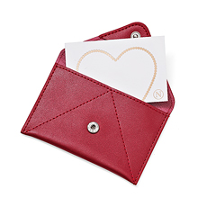 Neuhaus Leather Card Holder + Greeting Card