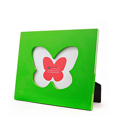 Photo Frame Butterfly Green