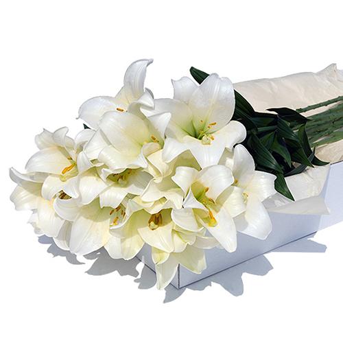 Flower Box White Lilies 24 pcs