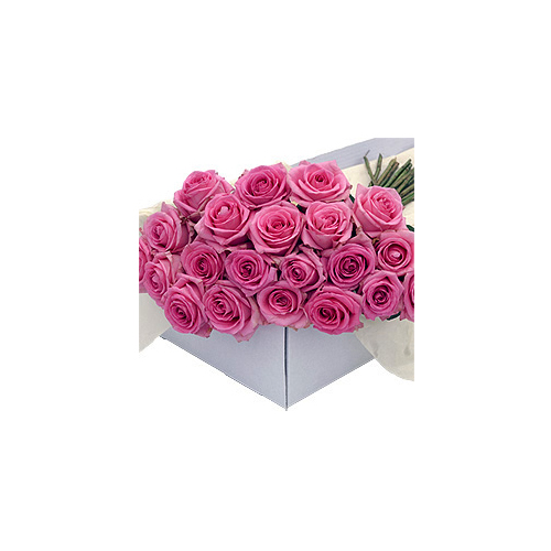 Flower Box Pink Roses 20 pcs