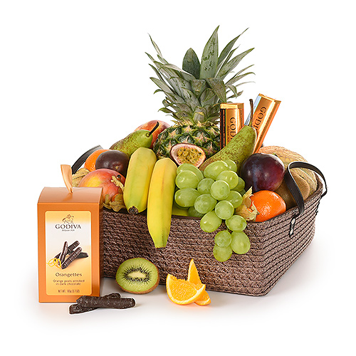 Supreme Fruit & Godiva Basket