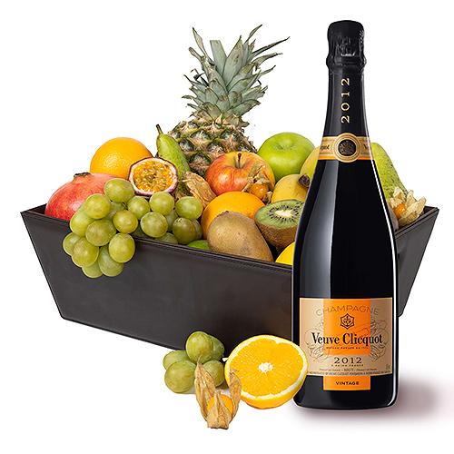 VIP Fruit Hamper & Veuve Clicquot