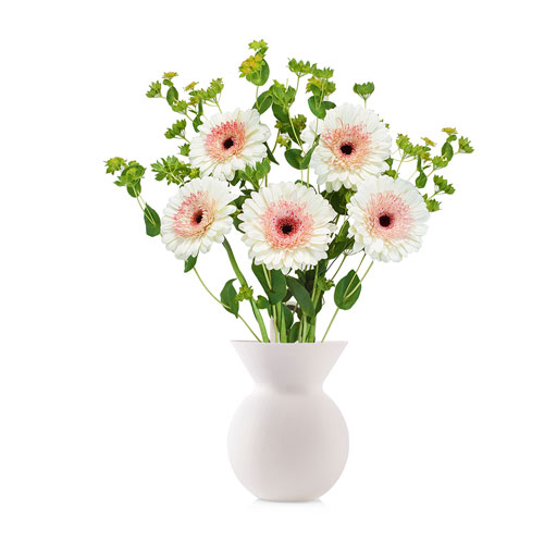 Lilly Fleur: Silicon Design Vase with Flowers (White)