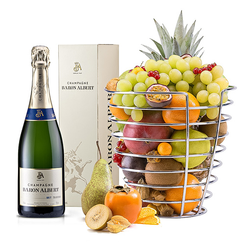Baron Champagne & Corbeille à Fruits Design