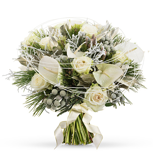 White Christmas Bouquet Luxe - 40 cm