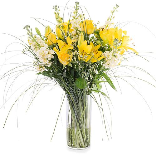 Bouquet de Printemps avec Lys Jaunes