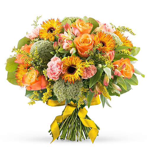Orange Spring Bouquet - Medium (30 cm)