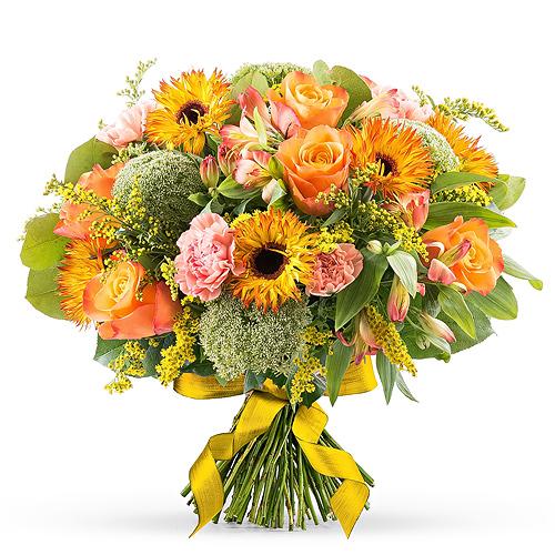 Bouquet de Printemps Orange - Luxe (40 cm)