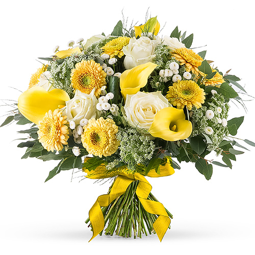Yellow White Spring Bouquet - Medium (30 cm)