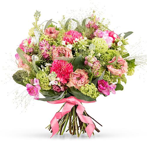 Bouquet de Fleurs Roses Pour la Fête des Mères - Medium (30 cm)