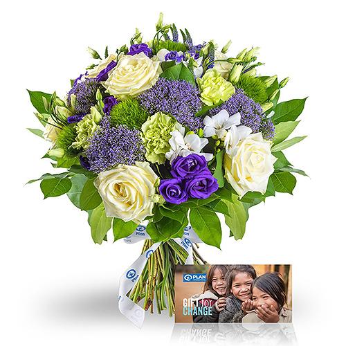 Plan International Bouquet de l'Espoir & Plan Carte Cadeau 'Un Petit Déjeuner à la Maternelle'