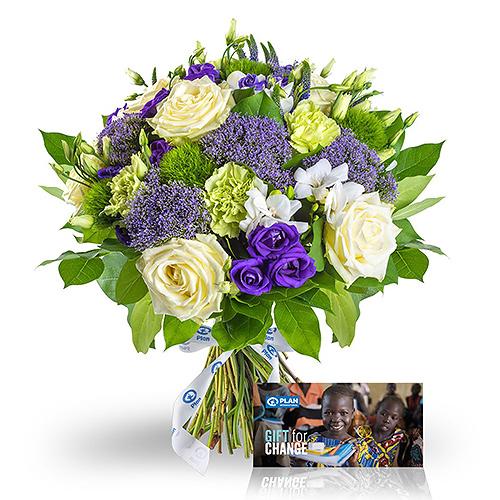Plan International Bouquet de l'Espoir & Plan Gift Card 'Toutes les Filles à l'école!'