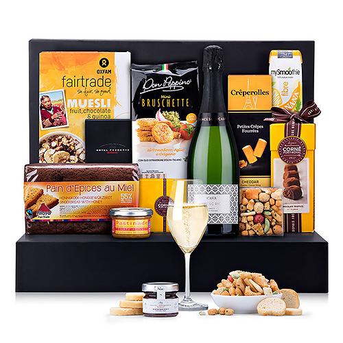 Cadeau de Brunch avec du vin Mousseux Cava Francesc Ricart