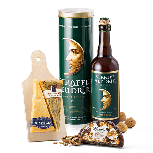 Straffe Hendrik Tripel Beer and Wyngaard Dutch Cheese Gift Set