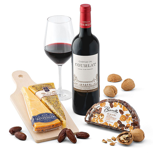 Château de Courlat and Wyngaard Dutch Cheese Gift Set