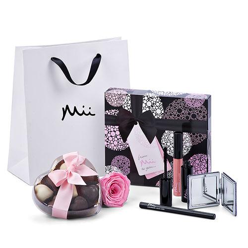 Mii set de maquillage de luxe, Godiva chocolat et Rose