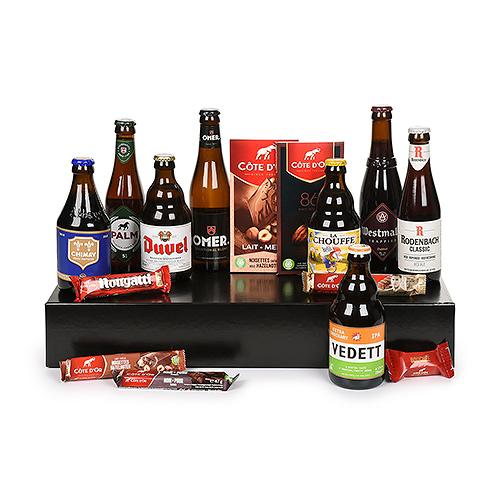 Boîte Cadeau Sélection de Bières et de Chocolats Belges