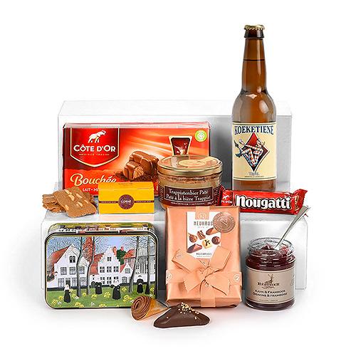 Panier Gourmand Spécialités Belges avec Bière De Poes