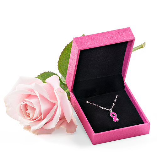 Think-Pink 2017: Women's Necklace & Pink Rose