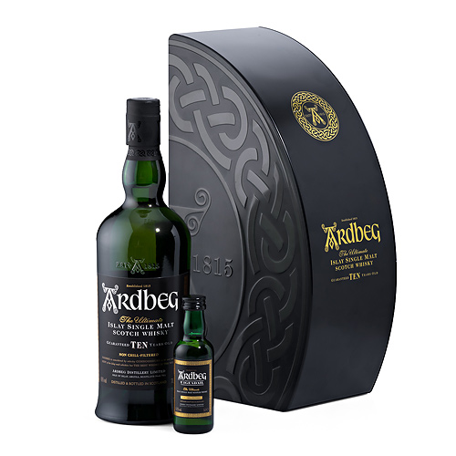 Ardbeg 10 Years Whisky Pack in Gift Box