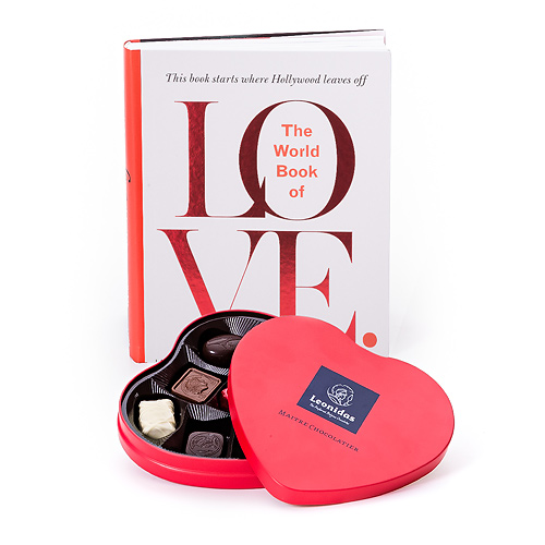 Trias Book Of Love & Leonidas Chocolade EN