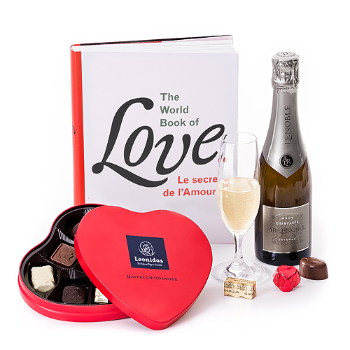 Trias Livre Book Of Love, Chocolats Leonidas & Champagne FR