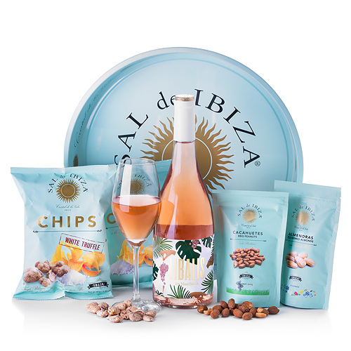 Appetizer Tray Sal de Ibiza en Libalis Rosé Wine