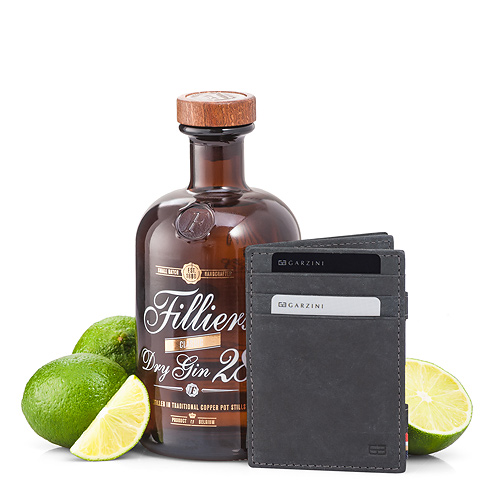 Garzini 'Magic' Wallet Black & Filliers Dry Gin