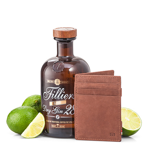 Garzini 'Magic' Wallet Brown & Filliers Dry Gin