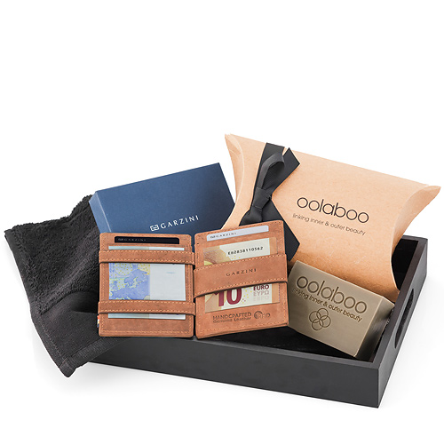 Garzini Wallet Brown & Oolaboo Wellness For Him