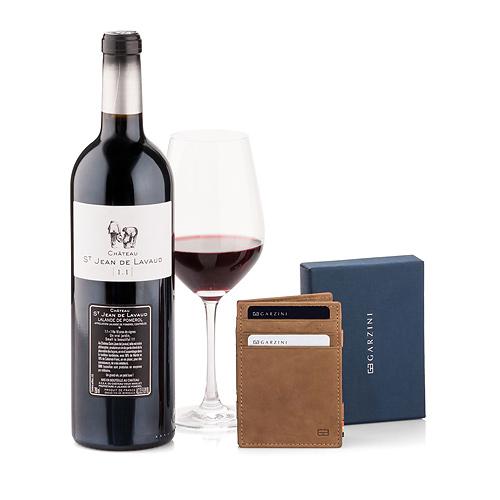 Garzini Wallet Brown & Red Wine
