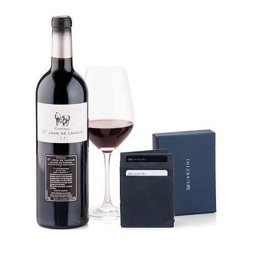 Garzini Magic Portemonnaie Noir & Vin Rouge