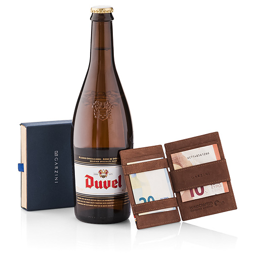 Garzini 'Magic' Wallet Brown & Beer