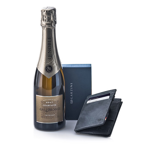 Garzini 'Magic' Wallet Black & Champagne