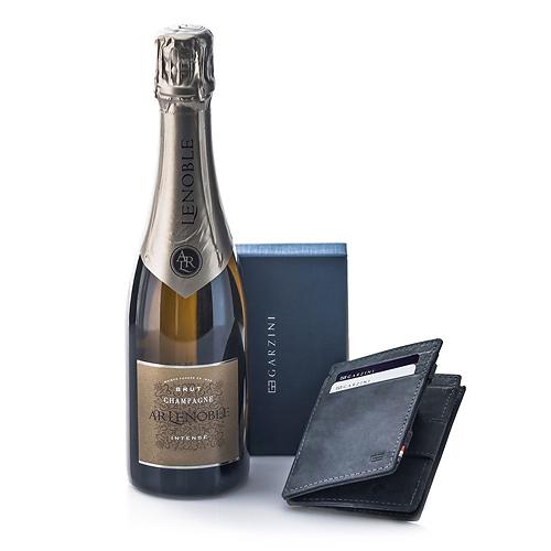 Garzini Portefeuille 'Magique' Noir & Champagne