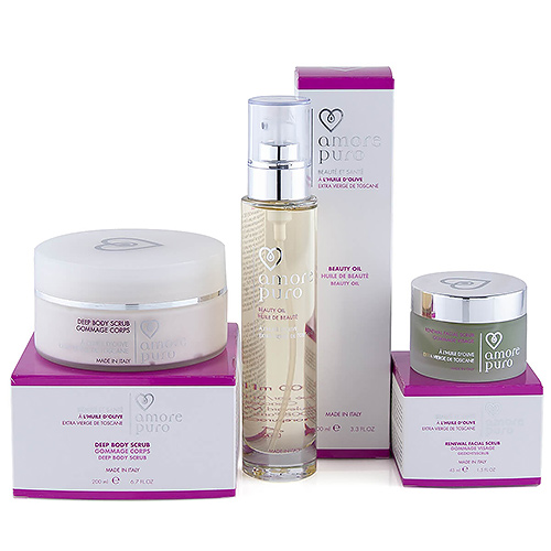 Amore Puro Body & Facial Scrub, Beauty Oil