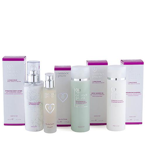 Amore Puro Shower Gel, Shampoo, Perfume & Body Lotion