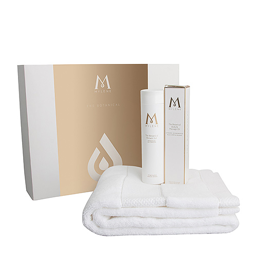 Mylène The Botanical Gift Box Shower Gel, Body & Massage Oil & Towel