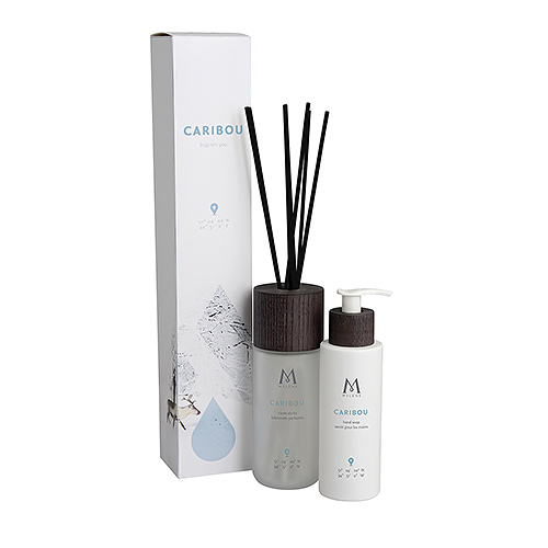 Mylène Caribou Gift Box Scented Sticks & Hand Soap