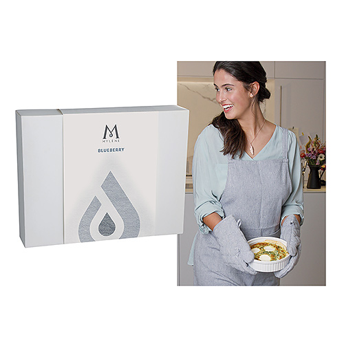 Mylène Blueberry Kitchen Gift Box Apron & Oven Mitts