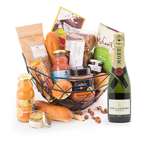 Breakfast Basket with Champagne
