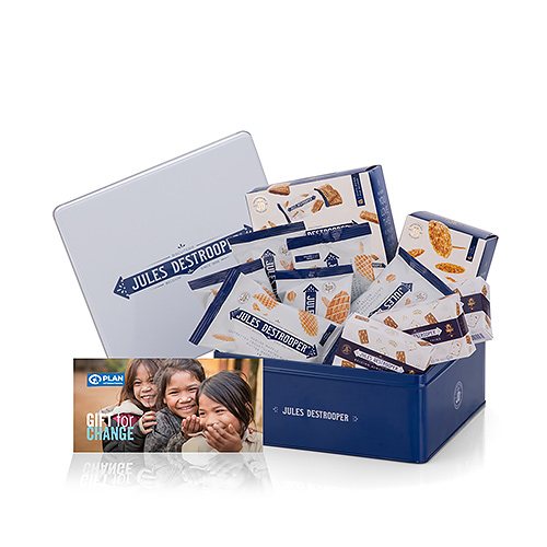 Plan International Belgique Biscuits au Bureau & Carte-Cadeau 'Petit Déjeuner à la Maternelle'