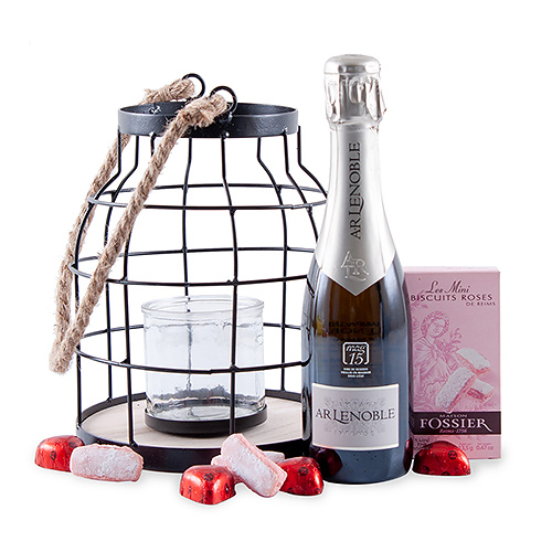 Champagne Lenoble, Candle Lantern & Sweets