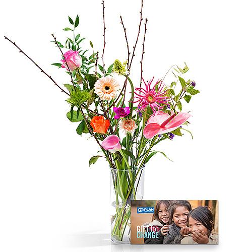 Plan International Belgium Flowers & Plan Gift Card