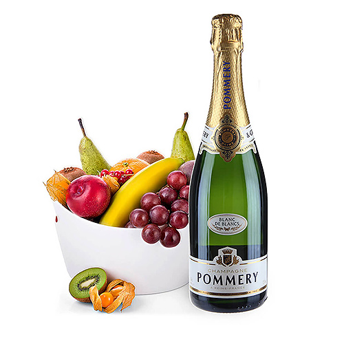 Pommery Blanc De Blancs & Corbeille de Fruits