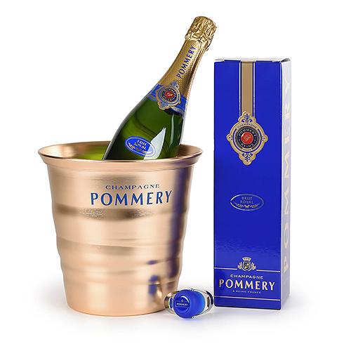 Pommery Brut avec Seau à Champagne & Bouchon